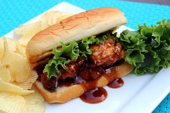 Honey BBQ Chicken Sandwiches #kingshawaiian