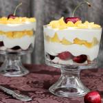 Mini Peach and Cherry Trifles