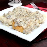 Sausage Gravy and Biscuits #SundaySupper