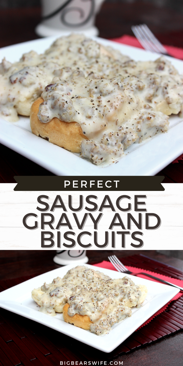 This amazing southern Sausage Gravy and Biscuits recipe is one of our absolute favorites! This recipe is just like the Sausage Gravy and Biscuits that my papa us to make!