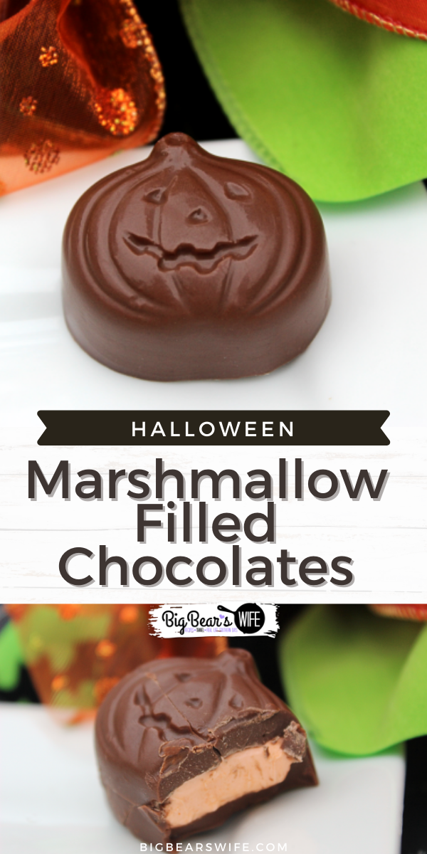 Make your own spooky Halloween chocolate candies at home with a bit if melting chocolate and marshmallows! These Spooky Marshmallow Filled Chocolates can be made with any candy mold so the possibilities are endless!