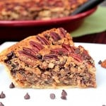 Chocolate Chip Pecan Pie #SundaySupper  #BakeForACure