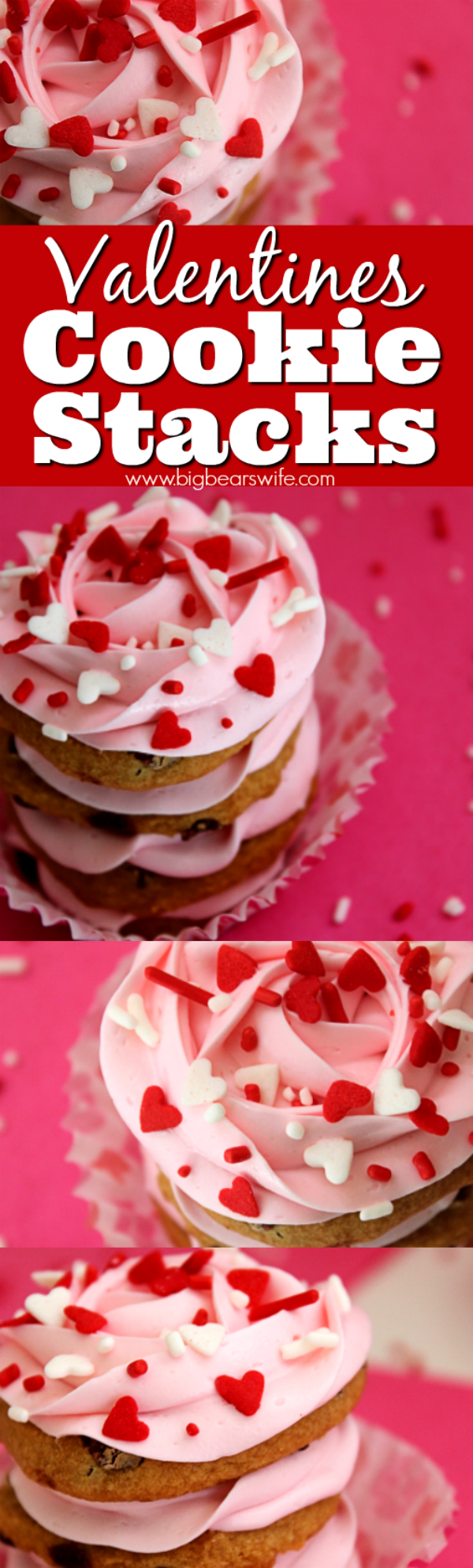VALENTINES COOKIE STACKS - so easy to make and no baking needed!!!!