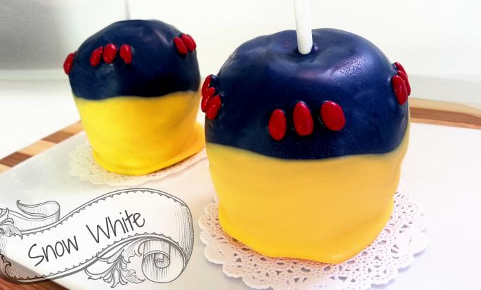 Snow White Chocolate Apples BigBearsWife.com @bigbearswife