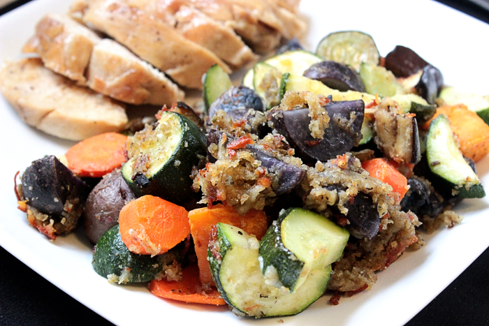 Rosemary and Garlic Roasted Vegetables #KraftFreshTake BigBearsWife.com @bigbearswife