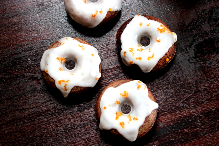 Chocolate Espresso Mini Donuts with Orange Zest Glaze at BigBearswife.com