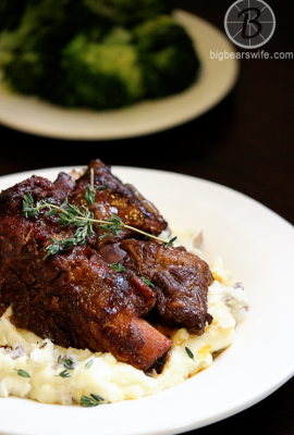 Slow Cooker Braised Short Ribs #SundaySupper