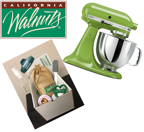 A KitchenAid Stand Mixer and California Walnuts Prize Pack all donated by California Walnuts is ONE of the fabulous prize packs in our #BrunchWeek 2013 giveaway.