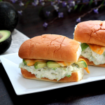 Mini Chicken Salad, Avocado and Cheese Subs #SundaySupper
