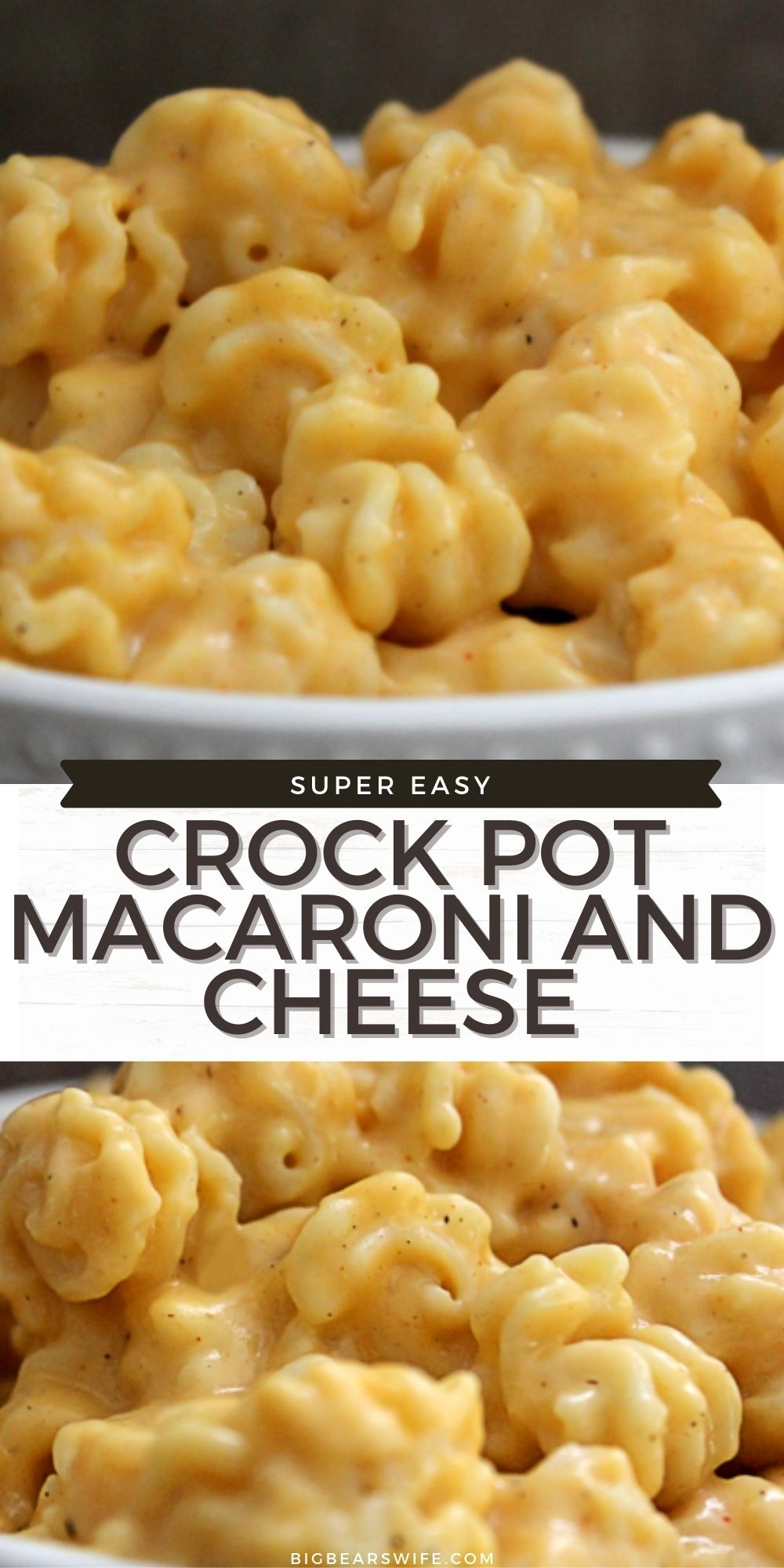Did you know that you can make Macaroni and Cheese in the slow cooker? You CAN! It's so easy with my favorite Crock Pot Macaroni and Cheese recipe!  via @bigbearswife