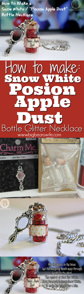 "How to Make a Snow White ""Poison Apple Dust"" Bottle Necklace"