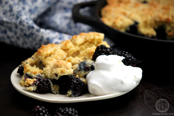 Blackberry Skillet Cobbler
