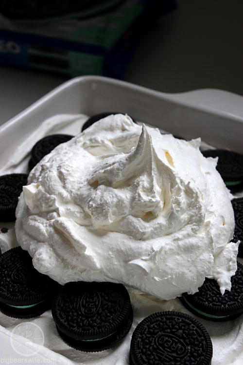 White Chocolate Oreo Mint Icebox Cake From BigBearsWife.com