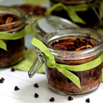 Chocolate Chip Pecan Pie in a Jar #SundaySupper