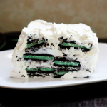 White Chocolate Oreo Mint Icebox Cake