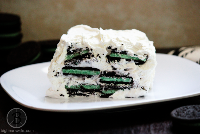 White Chocolate Oreo Mint Icebox Cake