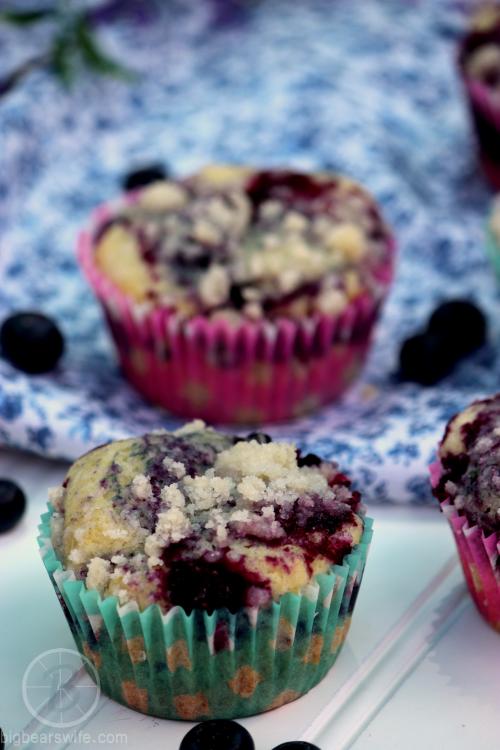 Sugar Crusted Blueberry Muffins
