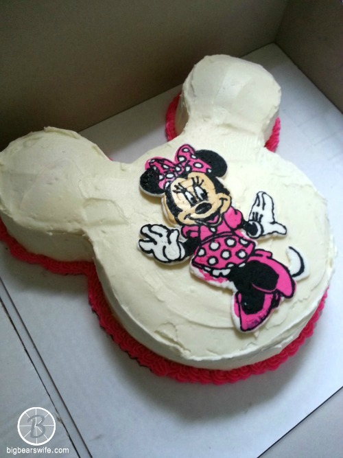 Minnie Mouse Frozen ButterCream Transfer Birthday Cake Big Bears Wife