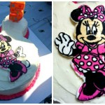 Minnie Mouse Frozen ButterCream Transfer Birthday Cake