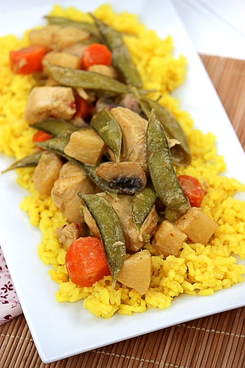 Hawaiian Style Green Curry Chicken | BigBearsWife.com #NatureRaisedFarms