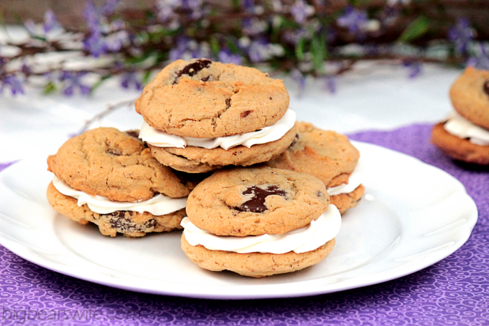 Brown Butter Chocolate Melt Sandwich Cookies
