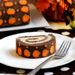 "Chocolate ""Pumpkin"" Swiss Roll Cake #SundaySupper"