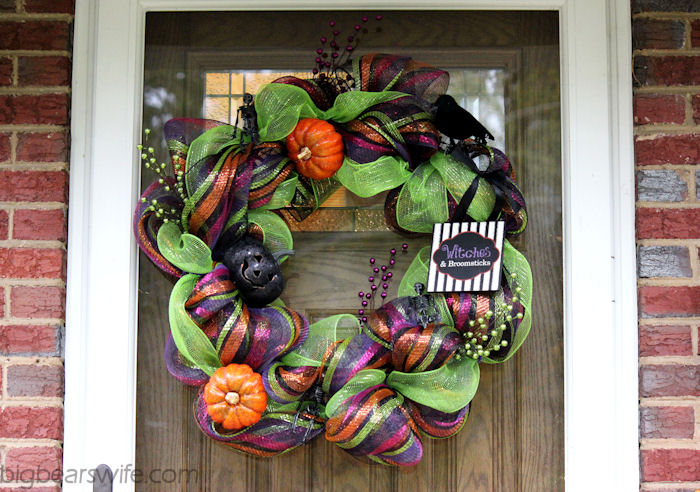 Halloween Deco Mesh Wreath Tutorial Big Bears Wife