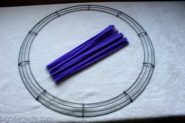 How To Make A Deco Mesh Wreath Form Work Wreath Big