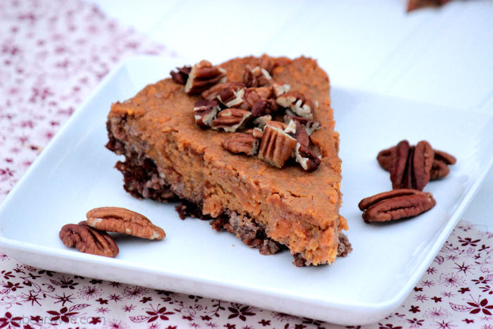 Sweet Potato Pie with a Honey Pecan Crust #OurOctoberChallenge