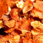 Baked Sweet Potato and Parsnip Chips #OurOctoberChallenge