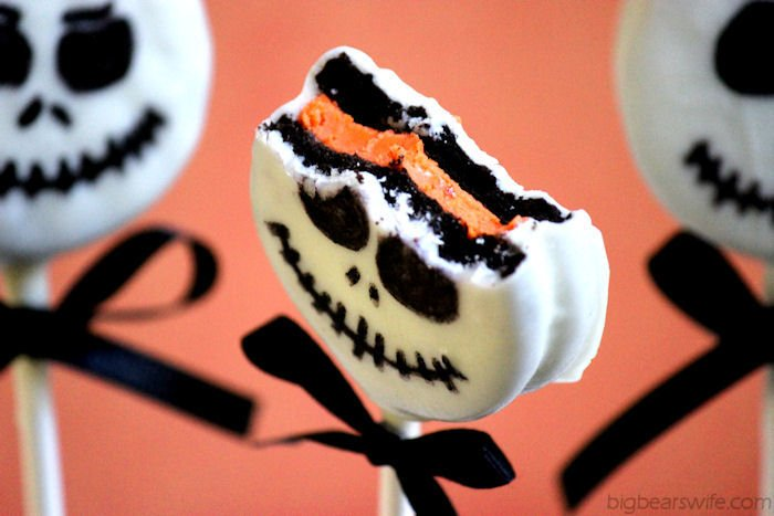 12 Jack Skellington Oreo Pops