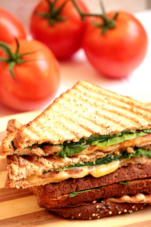 Spinach, Tomato and Gouda Panini with Apple Butternut Squash Spread #OurOctoberChallenge   BigBearsWife.com