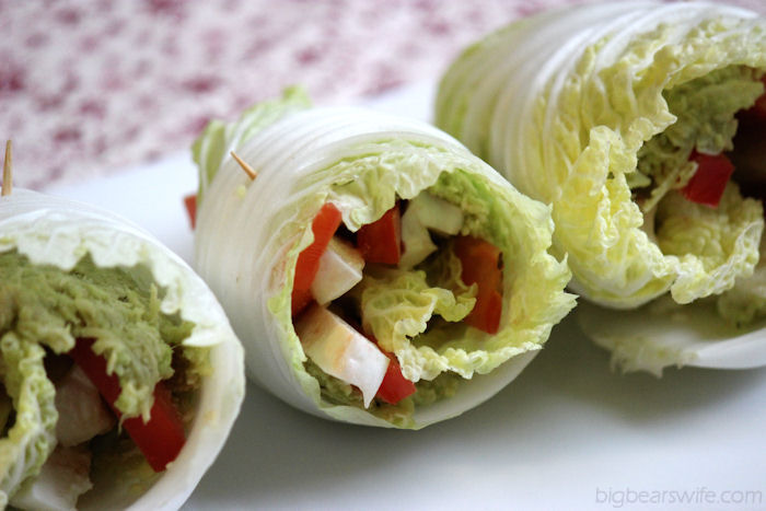 Avocado Chicken Cabbage Wraps & a Giveaway #AvoAllStars