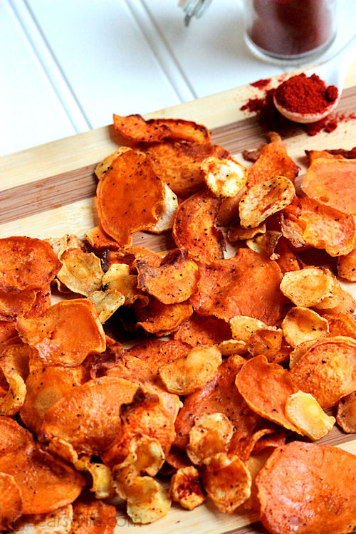 Baked Sweet Potato and Parsnip Chips | BigBearsWife.com