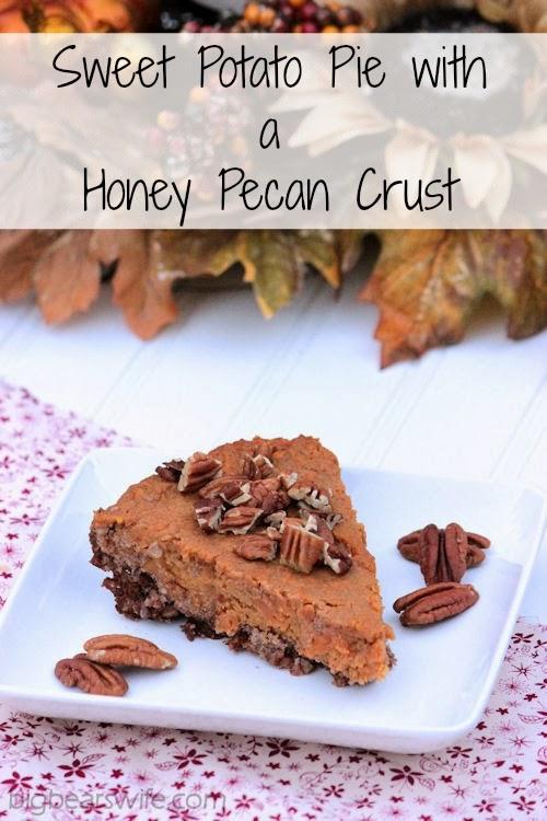 Sweet Potato Pie with a Honey Pecan Crust #OurOctoberChallenge @bigbearswife BigBearsWife.com