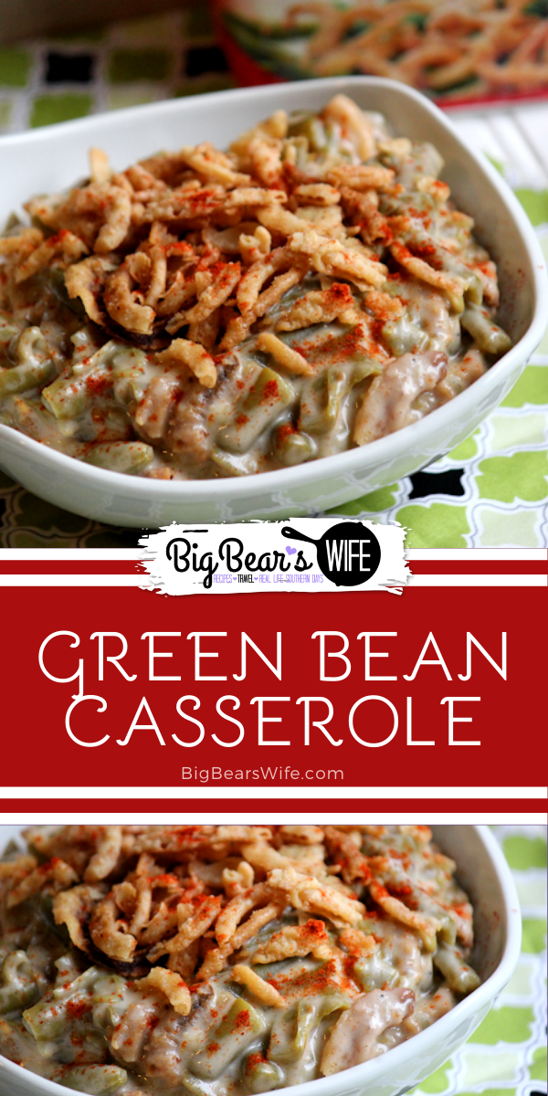 This delicious green bean casserole is a traditional recipe that is made all over the country for the holidays! This family favorite has been around since the 1950s and it's just as wonderful today as it was then!