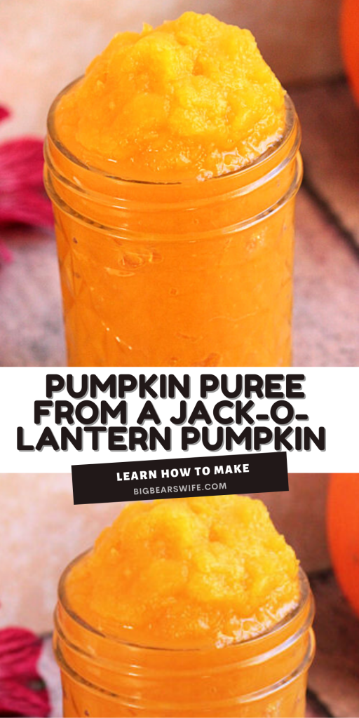 Want to make some homemade Pumpkin Desserts? Turn those un-carved pumpkins into homemade pumpkin puree! Perfect for Pumpkin Pies, Pumpkin Bread, Pumpkin Cookies and more!