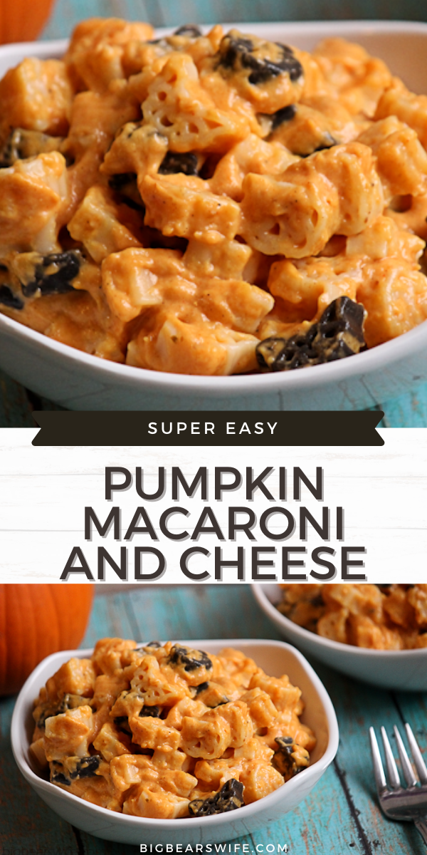 Creamy Macaroni and Cheese with a wonderful Pumpkin flavor! Pumpkin Macaroni and Cheese takes less than 30 minutes from start to finish!