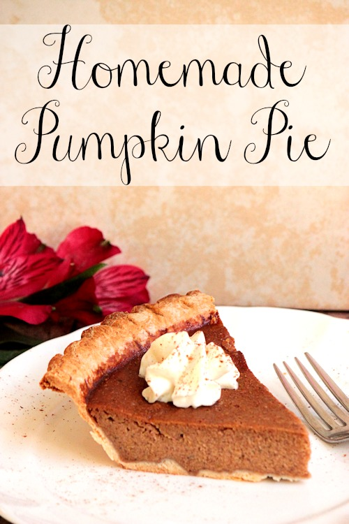 Homemade Pumpkin Pie   BigBearsWife.com @bigbearswife.com