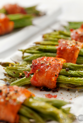 These tasty Bacon Wrapped Green Beans are really easy to make and are a great side dish!