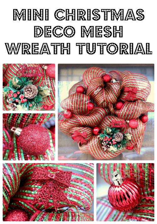 Mini Christmas Deco Mesh Wreath Tutorial Big Bear S Wife