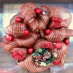 Mini Christmas Deco Mesh Wreath Tutorial