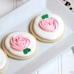 Pink Rose Sugar Cookies