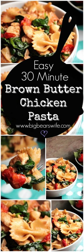 Easy 30 Minute Brown Butter Chicken Pasta