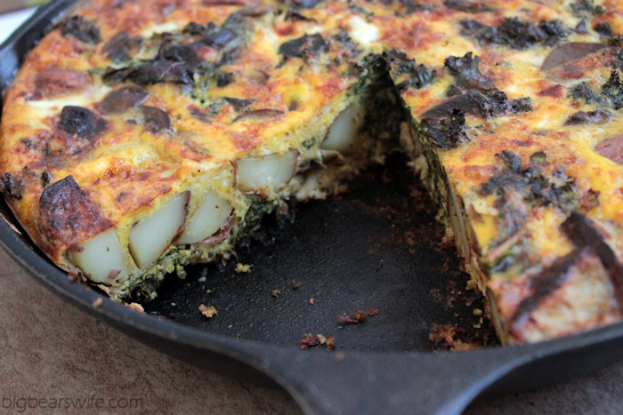 Red Potato, Kale, Mushroom and Feta Frittata #BetterWithReds #HealthyChoices | BigBearsWife.com