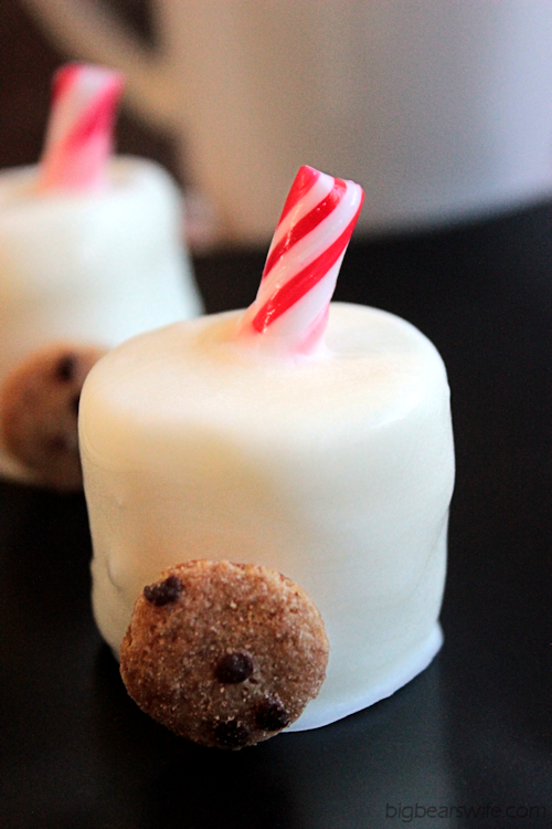 """Milk and Cookie"" Chocolate Covered Marshmallows 