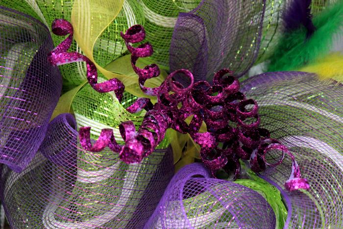 Mardi Gras Deco Mesh Wreath  | BigBearsWife.com
