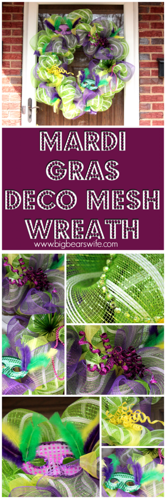 Mardi Gras Deco Mesh Wreath . How to Make a Mardi Gras Deco Mesh Wreath