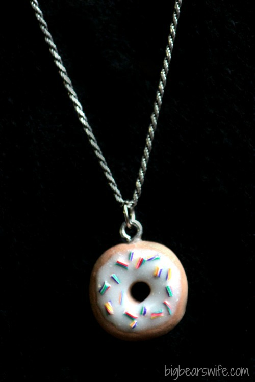 Rainbow Sprinkle Donut Charm  | BigBearsWife.com