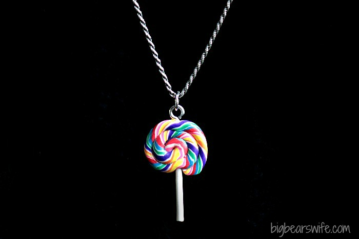 Rainbow Lollipop Charm | BigBearsWife.com